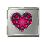 X_Red_Party_Style-777633 Mega Link Heart Italian Charm (18mm)
