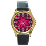 X_Red_Party_Style-777633 Round Gold Metal Watch