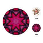 X_Red_Party_Style-777633 Playing Cards (Round)