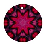 X_Red_Party_Style-777633 Round Ornament (Two Sides)
