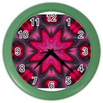 X_Red_Party_Style-777633 Color Wall Clock