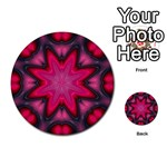 X_Red_Party_Style-777633 Multi-purpose Cards (Round)