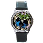 butterfly_4 Round Metal Watch