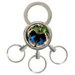 butterfly_4 3-Ring Key Chain