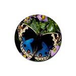 butterfly_4 Rubber Round Coaster (4 pack)