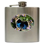 butterfly_4 Hip Flask (6 oz)