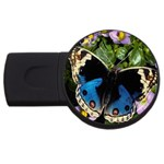 butterfly_4 USB Flash Drive Round (1 GB)