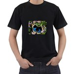 butterfly_4 Black T-Shirt (Two Sides)