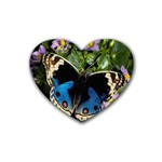 butterfly_4 Rubber Coaster (Heart)