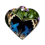 butterfly_4 Dog Tag Heart (Two Sides)