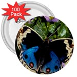 butterfly_4 3  Button (100 pack)