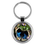 butterfly_4 Key Chain (Round)