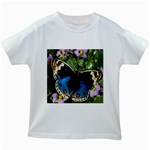 butterfly_4 Kids White T-Shirt