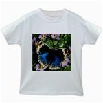 butterfly_4 Kids White T-Shirt