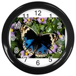butterfly_4 Wall Clock (Black)