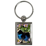 butterfly_4 Key Chain (Rectangle)