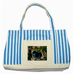 butterfly_4 Striped Blue Tote Bag