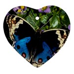 butterfly_4 Heart Ornament (Two Sides)