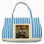 wallpaper_15015 Striped Blue Tote Bag