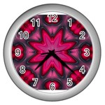 X_Red_Party_Style-777633 Wall Clock (Silver)