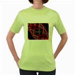 XtrStylez-565483 Women s Green T-Shirt