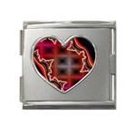 XtrStylez-565483 Mega Link Heart Italian Charm (18mm)