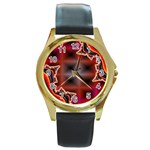 XtrStylez-565483 Round Gold Metal Watch