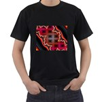 XtrStylez-565483 Black T-Shirt (Two Sides)