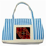 XtrStylez-565483 Striped Blue Tote Bag