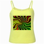 hippy-550591 Yellow Spaghetti Tank