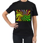 hippy-550591 Women s Black T-Shirt