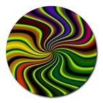 hippy-550591 Round Mousepad