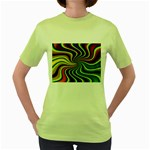 hippy-550591 Women s Green T-Shirt