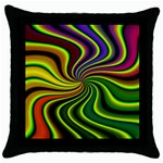 hippy-550591 Throw Pillow Case (Black)
