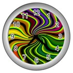 hippy-550591 Wall Clock (Silver)