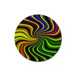 hippy-550591 Rubber Round Coaster (4 pack)