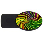 hippy-550591 USB Flash Drive Oval (1 GB)