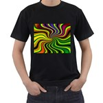 hippy-550591 Black T-Shirt (Two Sides)