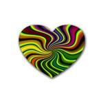 hippy-550591 Rubber Coaster (Heart)