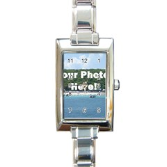 Personalised Photo Rectangular Italian Charm Watch from SnappyGifts.co.uk Front