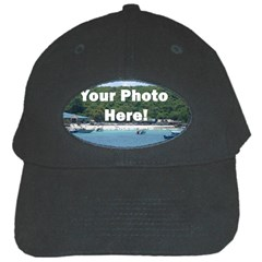 Personalised Photo Black Cap from SnappyGifts.co.uk Front
