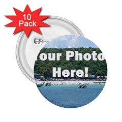 Personalised Photo 2.25  Button (10 pack) from SnappyGifts.co.uk Front
