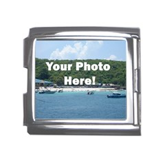 Personalised Photo Mega Link Italian Charm (18mm) from SnappyGifts.co.uk Front