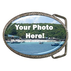 Personalised Photo Belt Buckle from SnappyGifts.co.uk Front