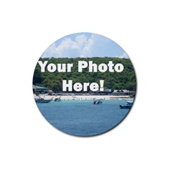 Personalised Photo Rubber Round Coaster (4 pack) from SnappyGifts.co.uk Front