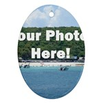 Personalised Photo Oval Ornament (Two Sides)