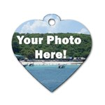 Personalised Photo Dog Tag Heart (One Side)