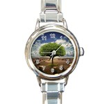 4-908-Desktopography1 Round Italian Charm Watch