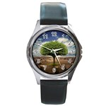 4-908-Desktopography1 Round Metal Watch