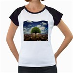 4-908-Desktopography1 Women s Cap Sleeve T
